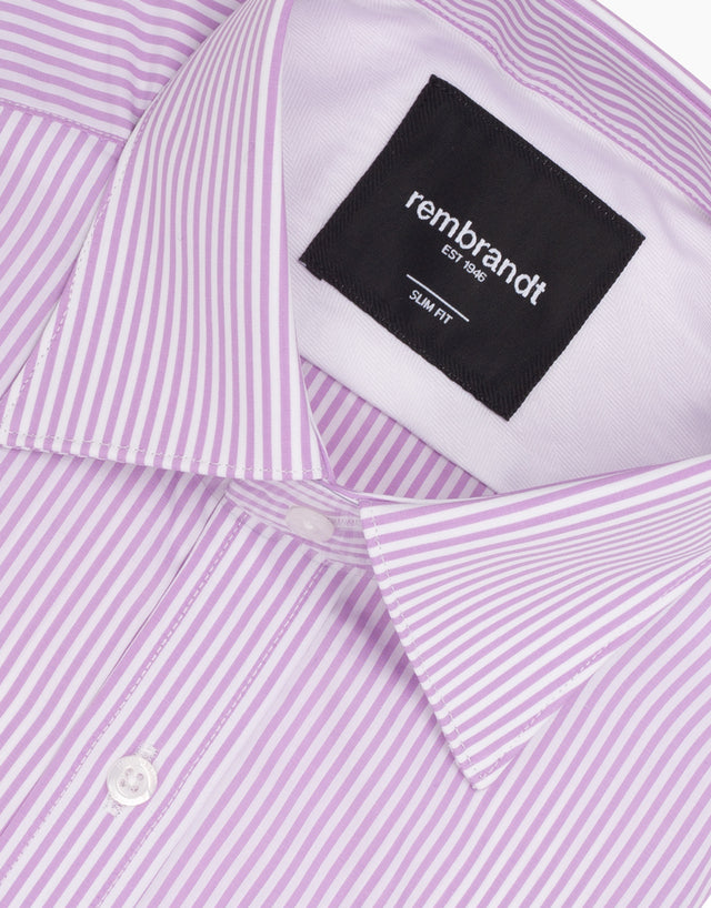 London Lilac Stripe Shirt