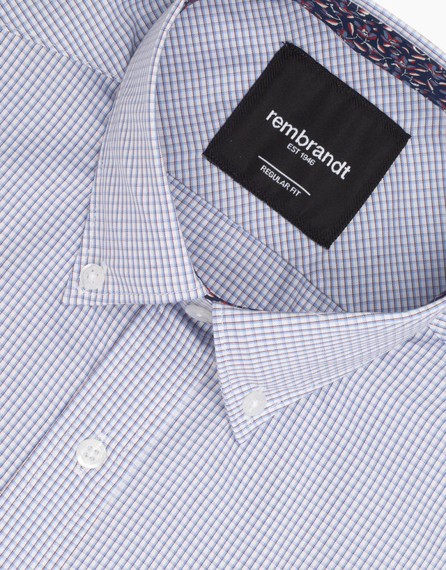 Awaroa Light Blue Check Shirt