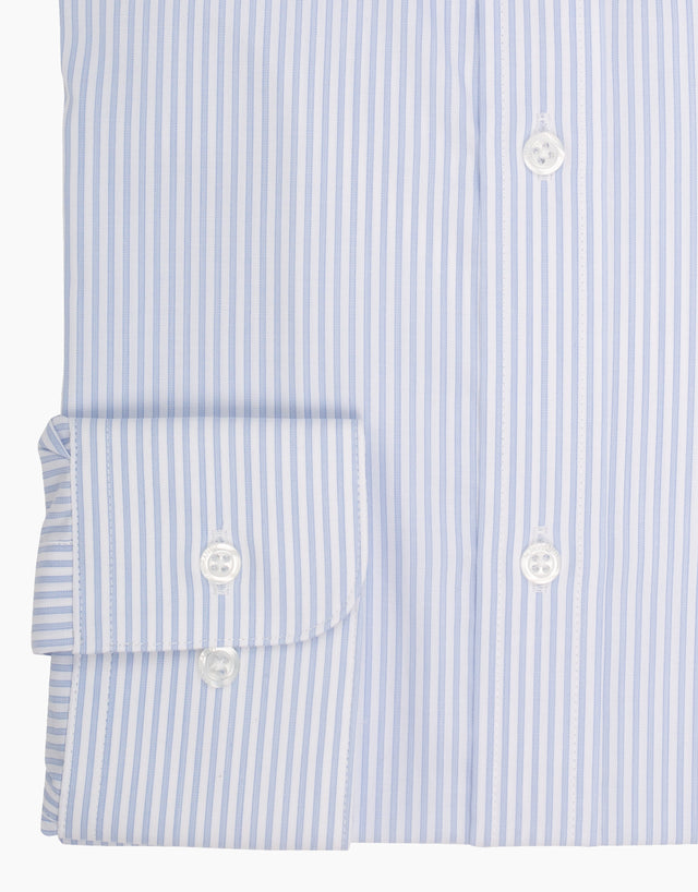 London Light Blue Stripe Business Shirt