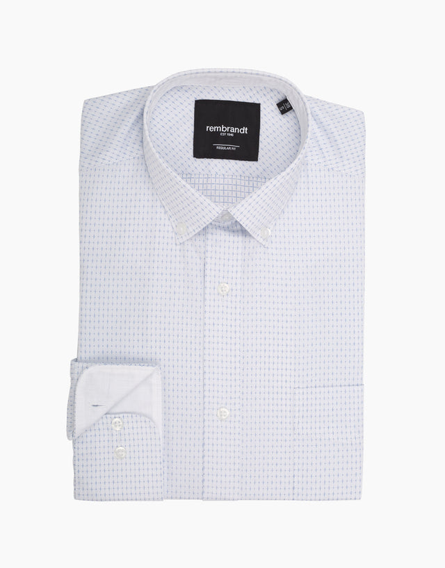Awaroa white & blue shirt