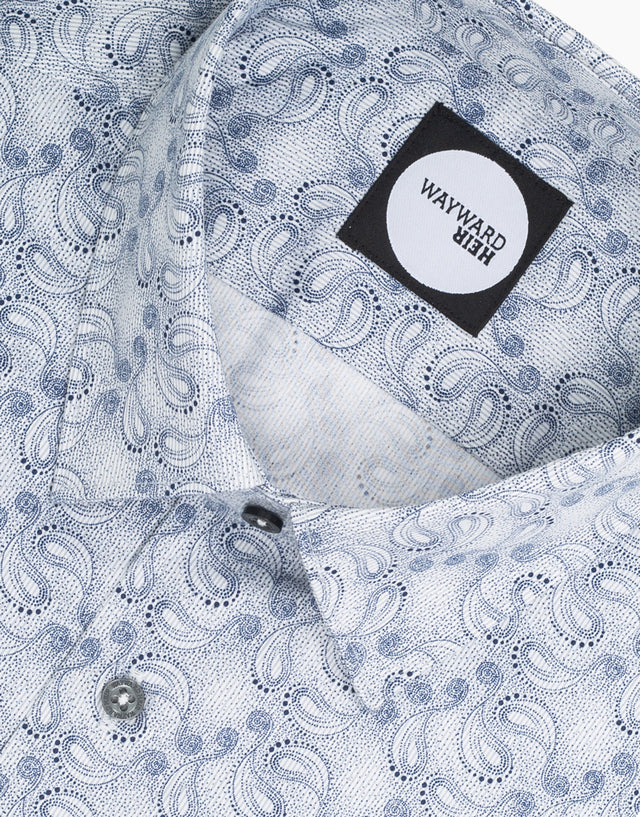 Brooklyn Grey Paisley Shirt