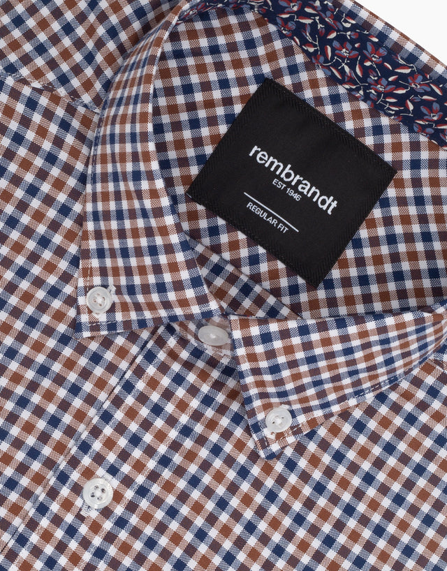 Awaroa Brown Check Shirt