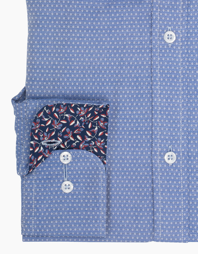 Awaroa blue & white dress shirt