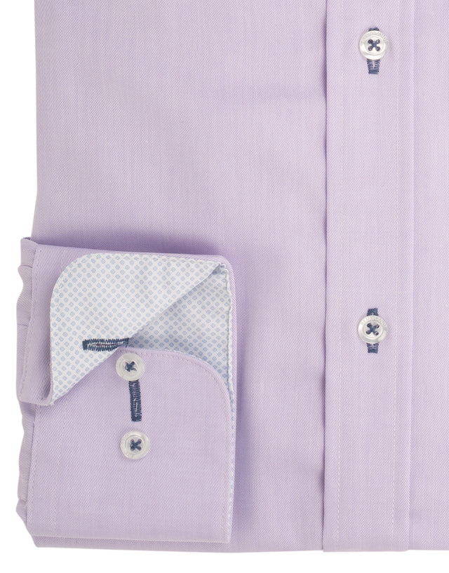 Barbican lilac twill shirt