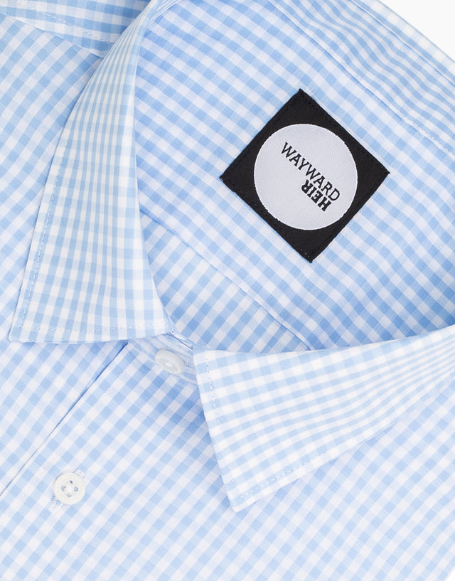 Brooklyn Light Blue Gingham Shirt