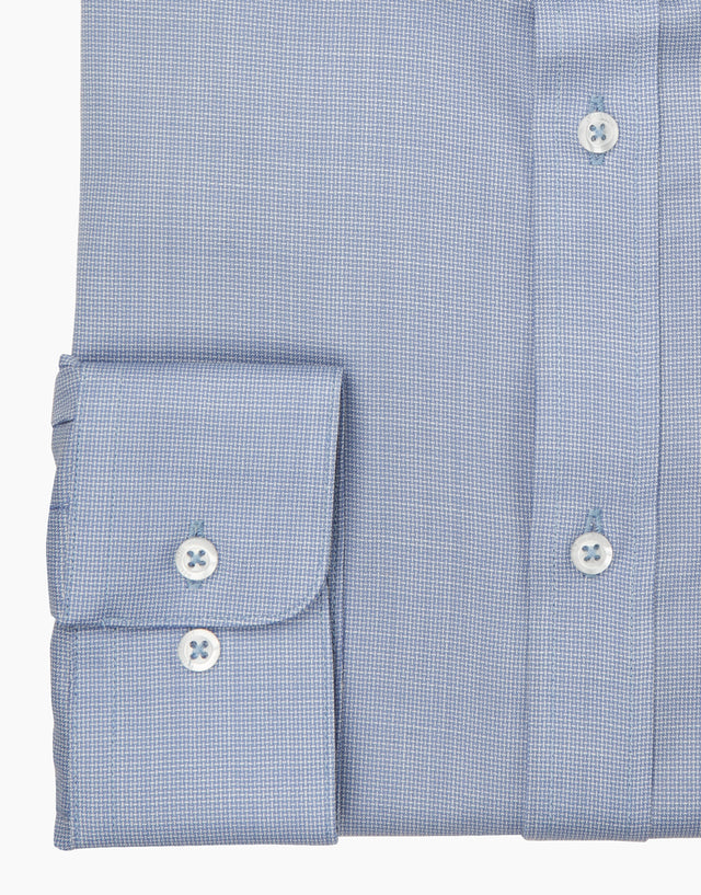 McCahon light blue merino wool shirt
