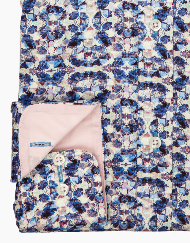 Barbican blue kaleidoscope shirt