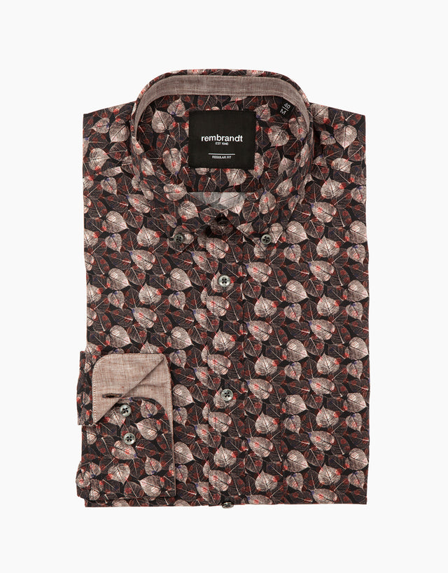 Awaroa autumn leaves shirt