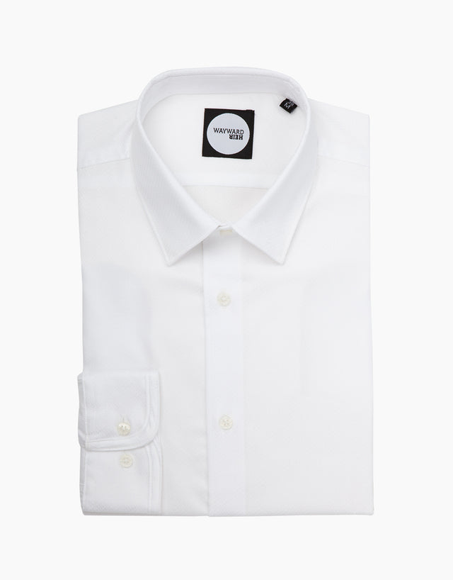 Brooklyn white textured shirt