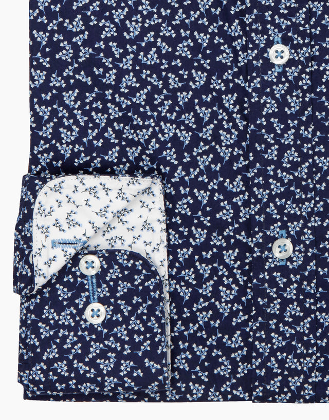 Barbican navy floral shirt