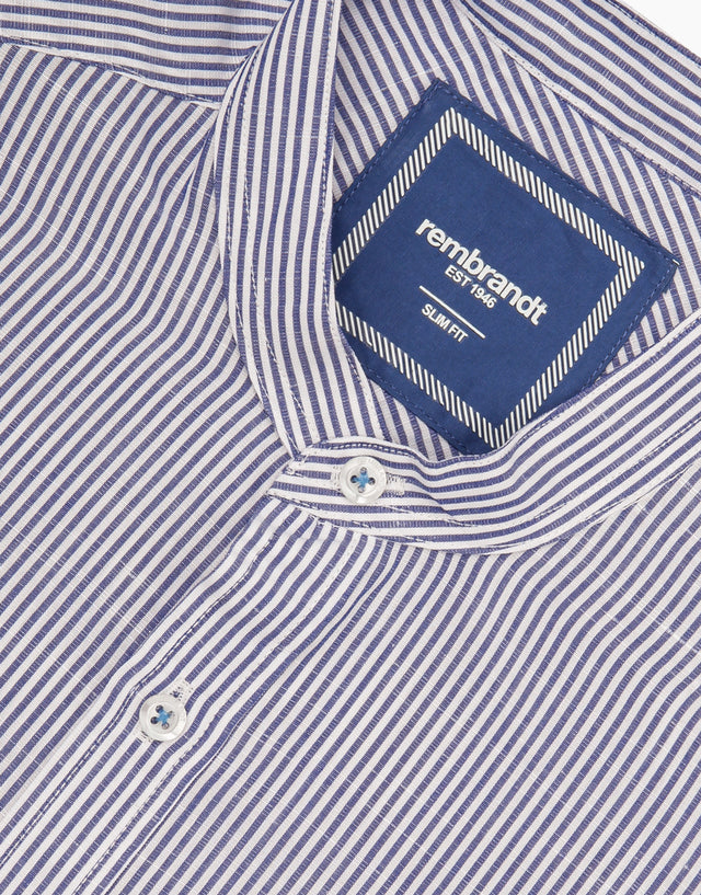 Luca blue stripe shirt