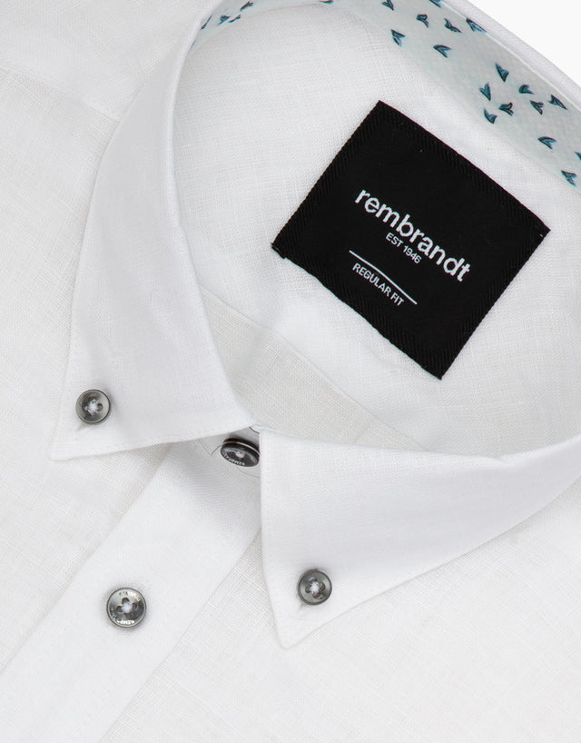 Awaroa white linen shirt