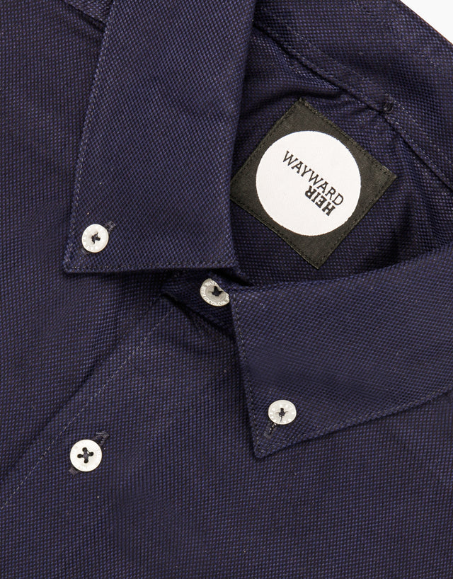Kelburn navy shirt