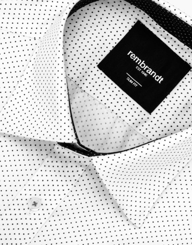 Barbican white dot shirt