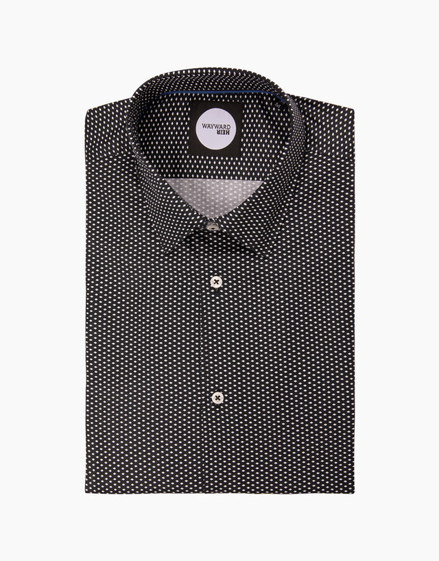 Brooklyn Black Geometric Shirt