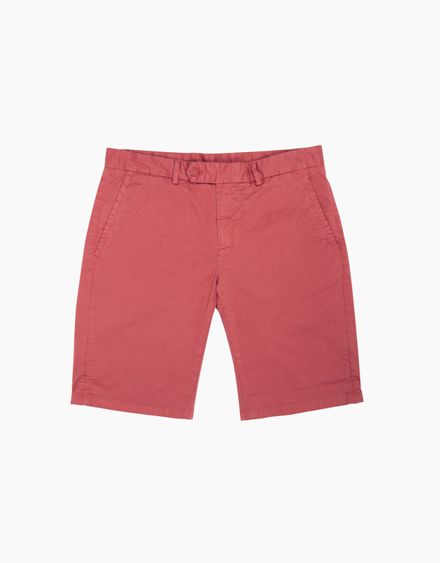 Shelford faded red shorts