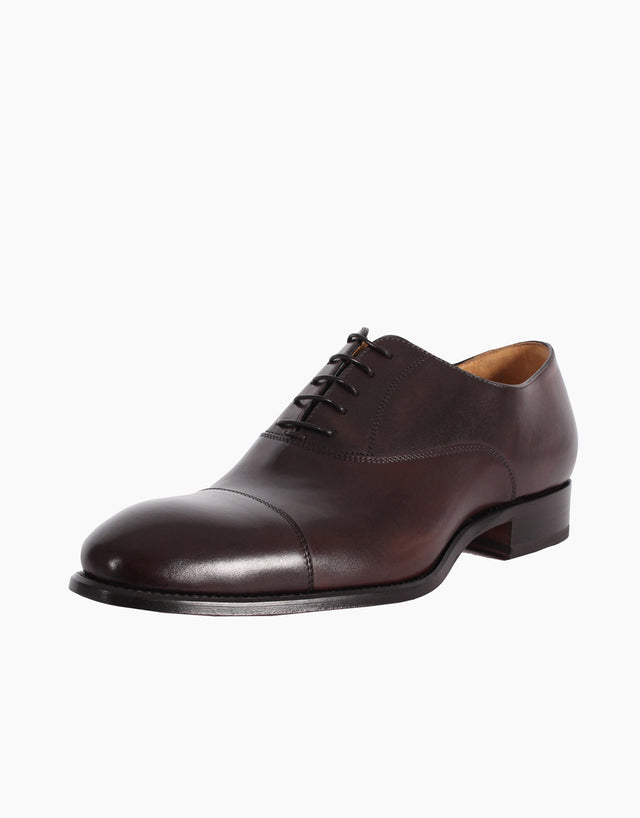 Toe Cap Brown Leather Shoe