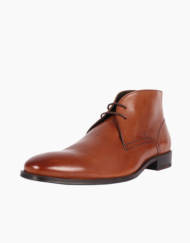 Chukka Tan Leather Boots