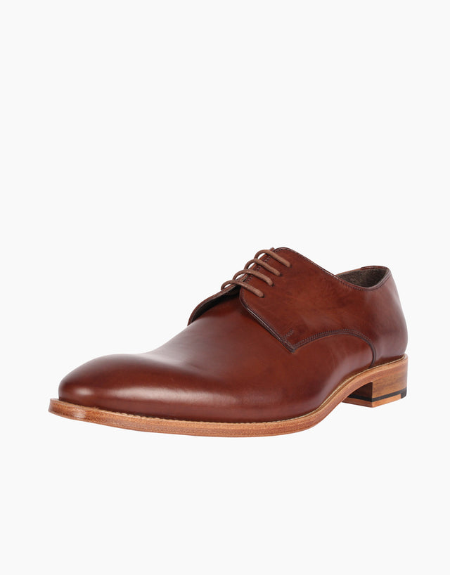 Derby Brown leather shoe