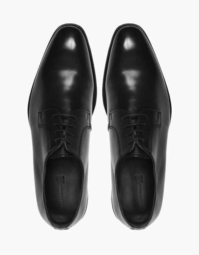 Black Derby Leather Shoe