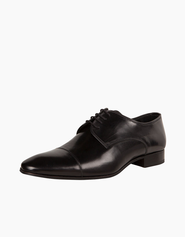 Black Cap-toe Derby Shoes