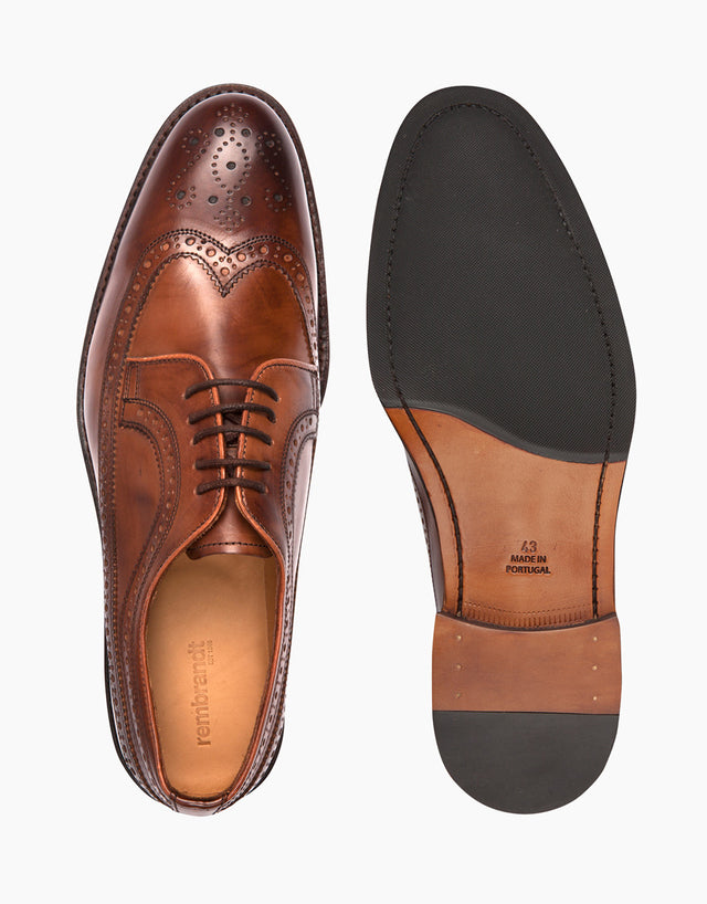 Brown Full Brogue Shoes