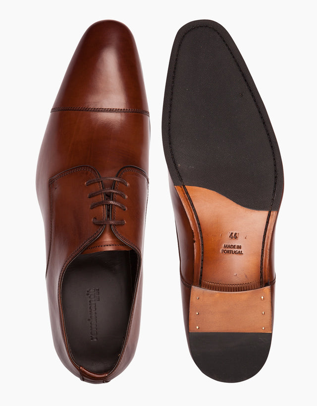 Tan Cap-toe Derby Shoes