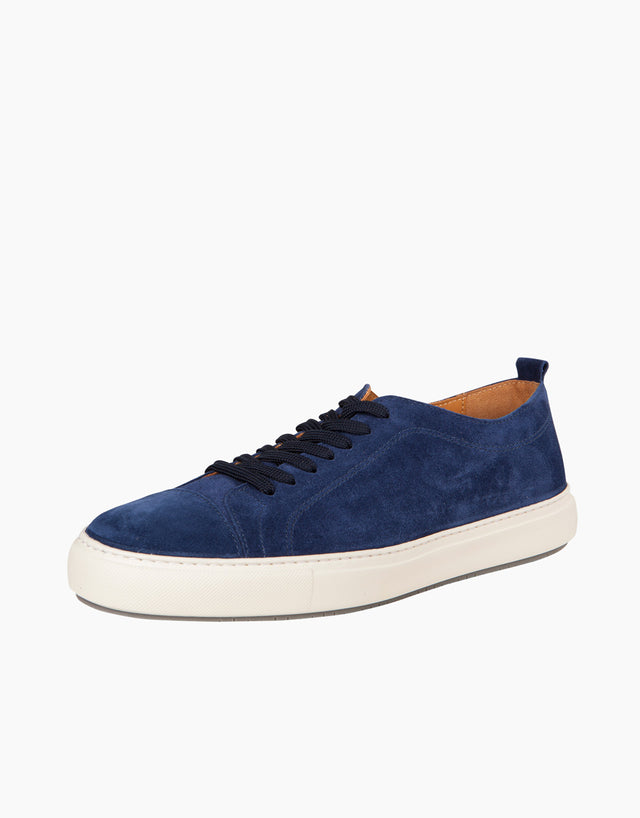 Navy Suede CapToe Sneakers
