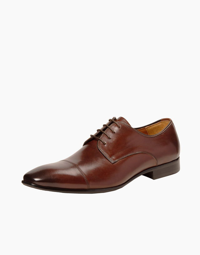 Chocolate Athens cap-toe shoe