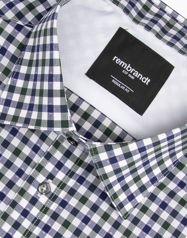 Sinatra Green Gingham Business Shirt