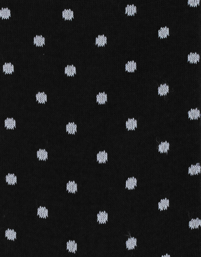 Italian Black & White Polka Dot Socks