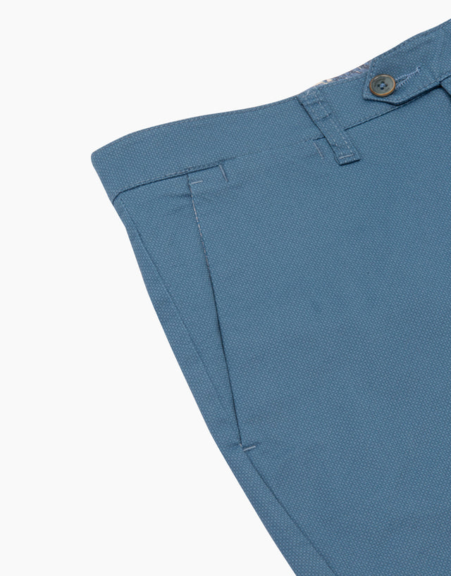 Soho Blue Micro-Design Chinos