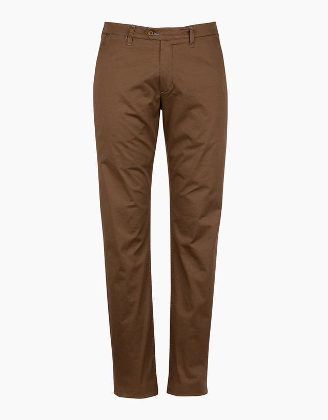 Soho Brown Microdesign Chinos
