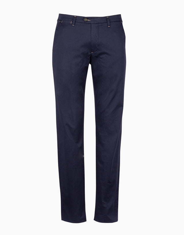 Soho Navy Dot-print Chinos
