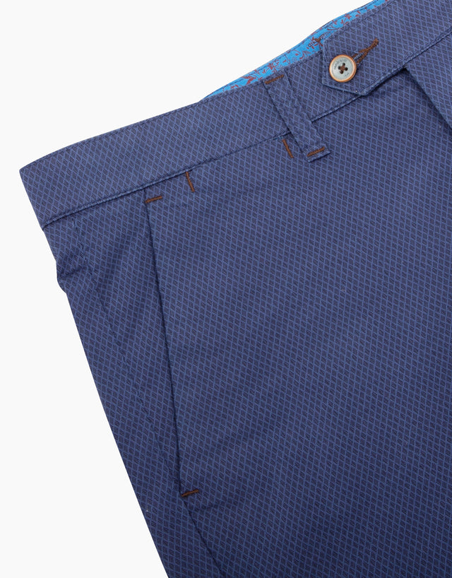 Soho blue printed chinos