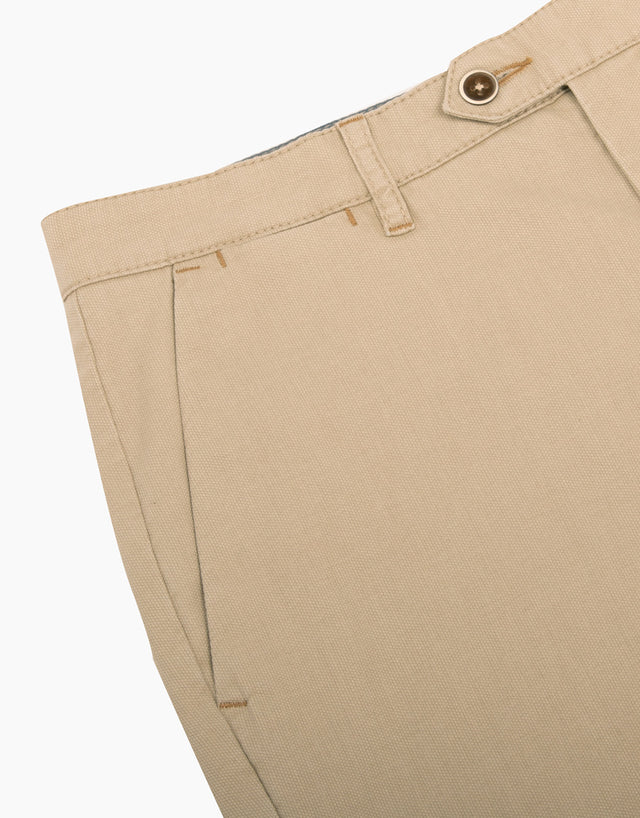 Soho beige textured chinos