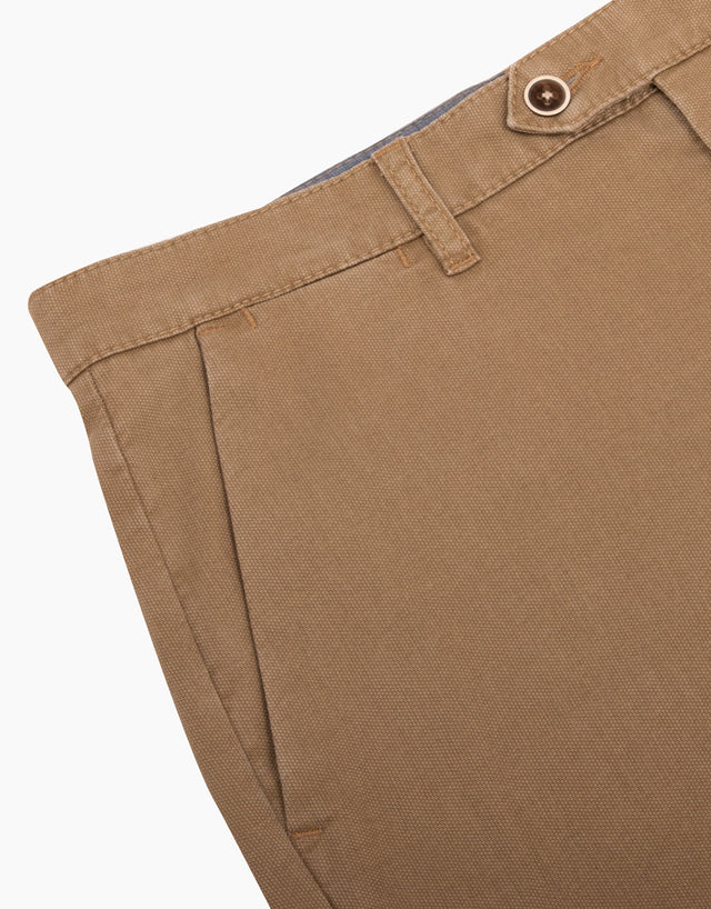 Soho taupe textured chinos