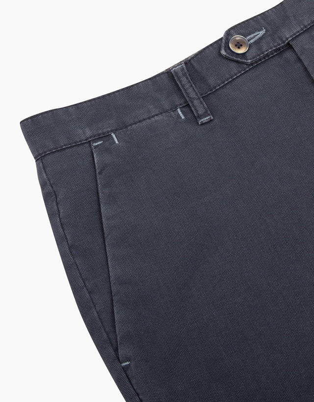 Soho navy textured chinos