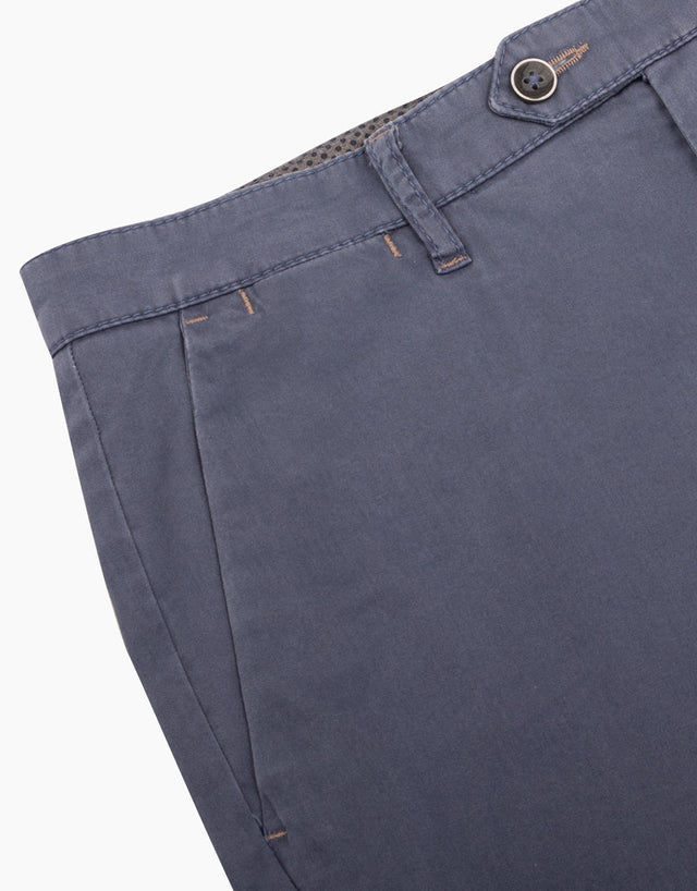 Soho blue textured chinos