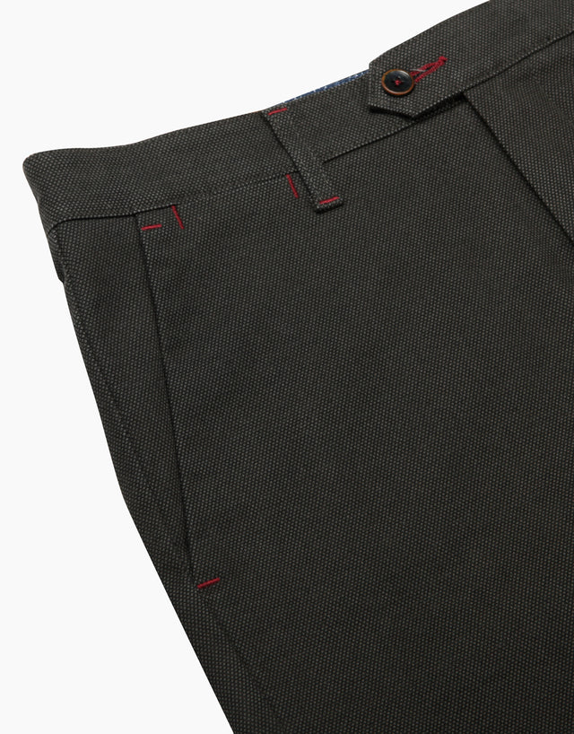 Soho green birdseye chinos