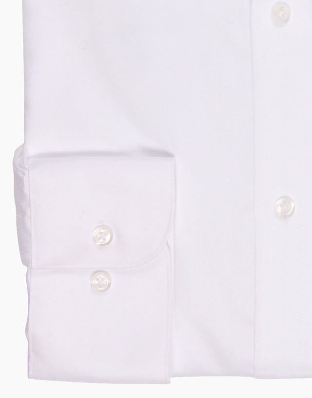 Sinatra White Herringbone Tailored Shirt