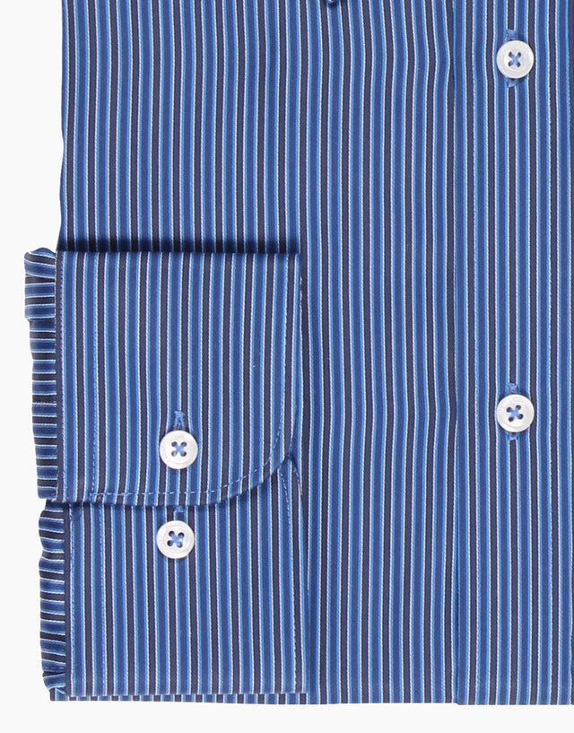 Bradley Blue Stripe Tailored Shirt