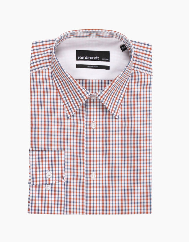 Bradley Brick Check Tailored Shirt