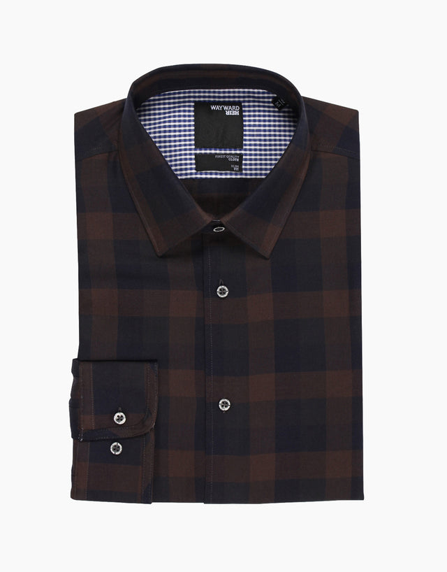 Brooklyn Brown Check Casual Shirt