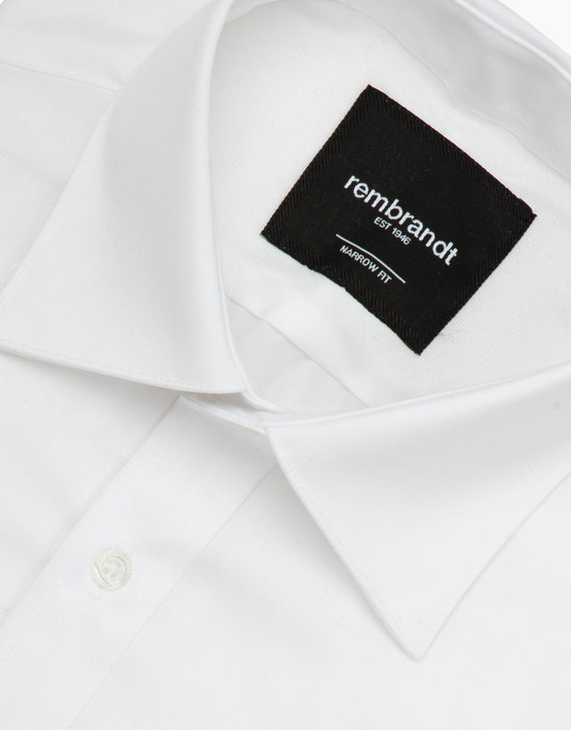 Calatrava White Twill Tailored Shirt