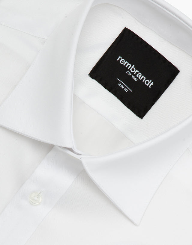 London White Twill Tailored Shirt