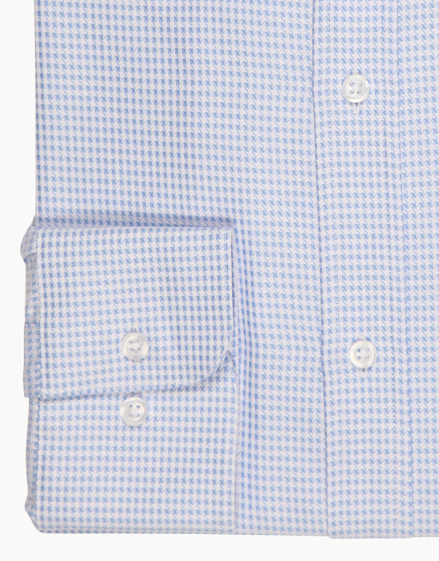 London Light Blue Microdesign Business Shirt
