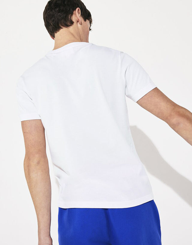 Lacoste White Big Logo Centre Croc T-Shirt