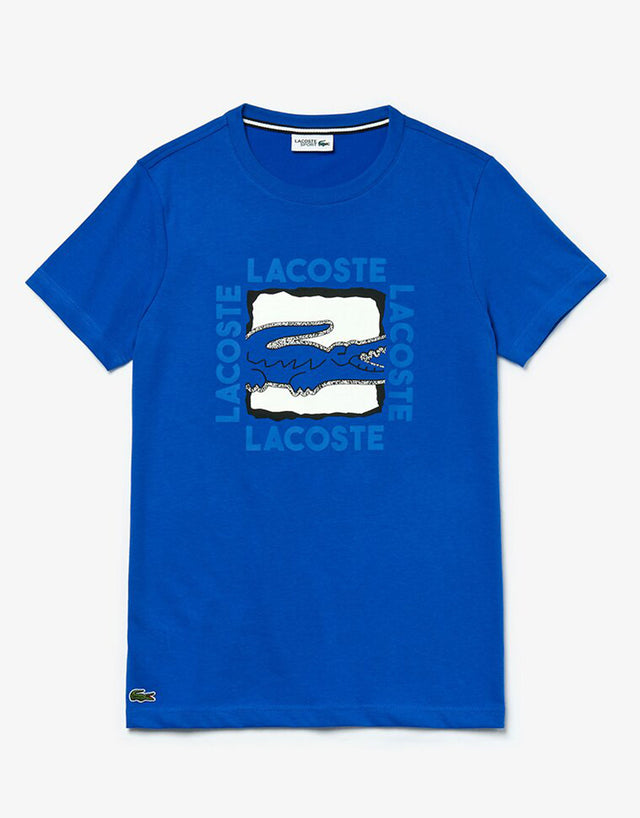 Lacoste Blue Big Logo Centre Croc T-Shirt