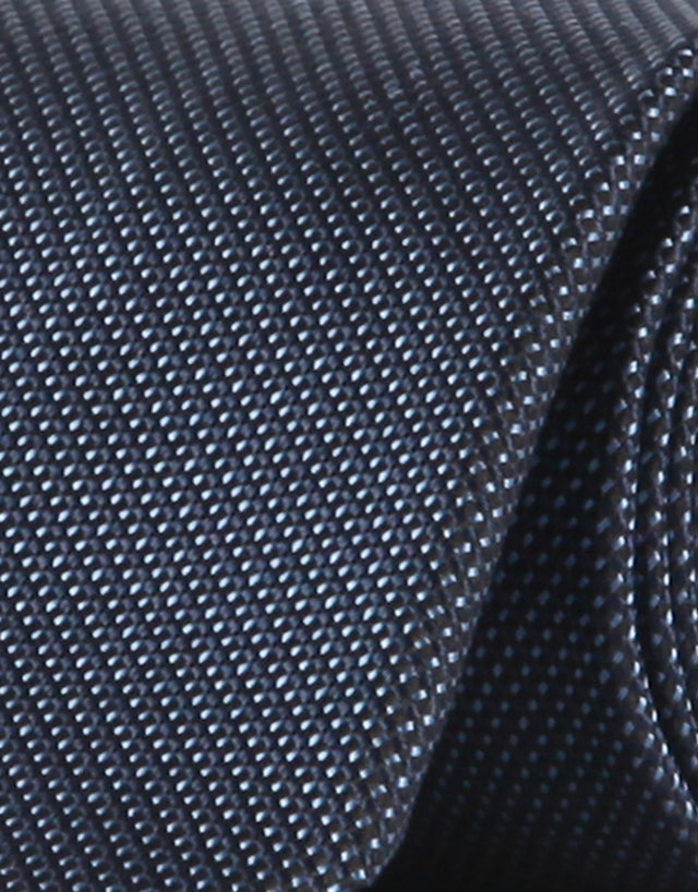 Navy Micro-design Silk Tie